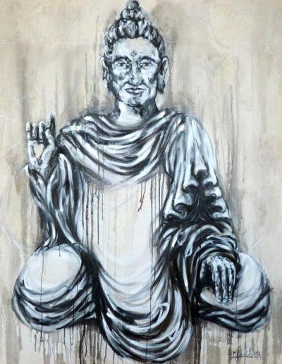 Anâhata / huile sur toile / 2017 / 120 x 100 cm
