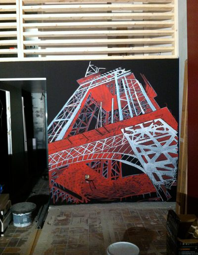 FAAR 1 / fresque murale - acrylique /  2015 / 250 x 300 cm