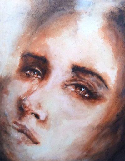 Magdalena / huile sur toile / 2017 / 50x 40 cm