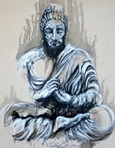 Sahasrâra / huile sur toile / 2017 / 120 x 100 cm