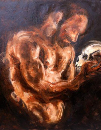 Inside 1 / huile sur toile /  2014 / 120 x 100 cm