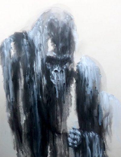 EFI huile sur toile  2017 / 120 x 100 cm