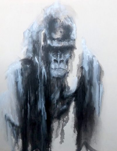 King / huile sur toile / 2017 / 120 x 100 cm