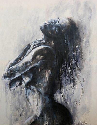 Muse 2 / huile sur toile / 2017 / 120 x 120 cm