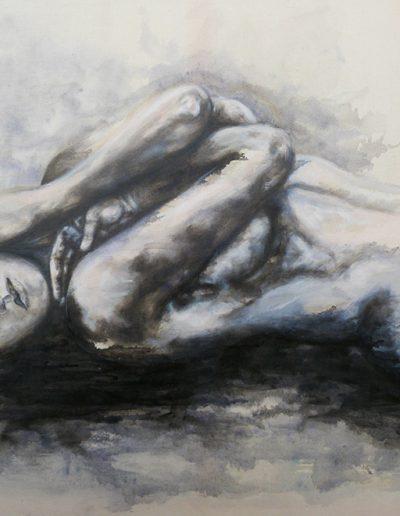 Douce innocence  / huile sur toile / 2017 / 120 x 100 cm