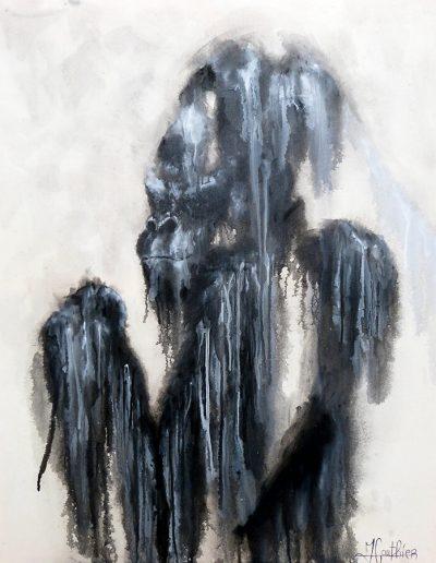 Goliath / huile sur toile / 2017 / 120 x 100 cm