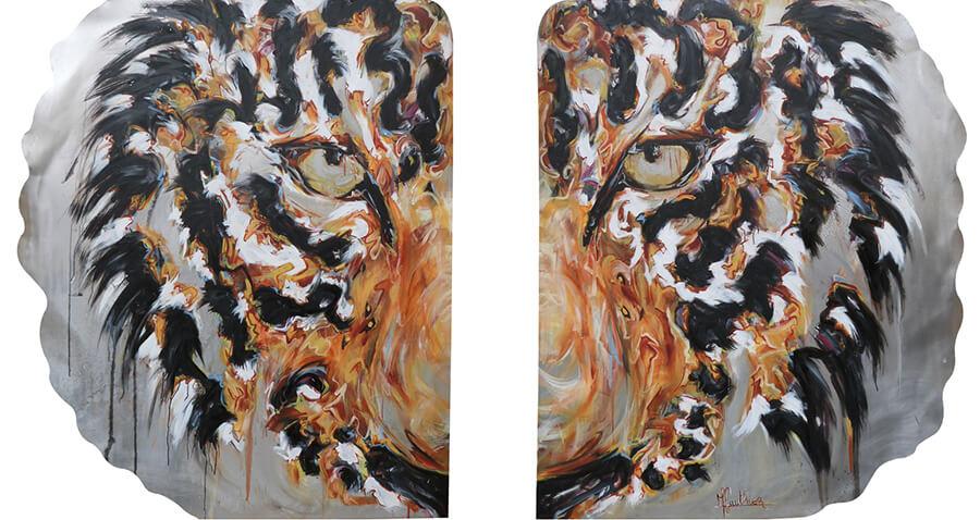 Sanghsa / huile sur toile / 2017 / 120 x 200 cm