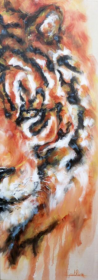 Tiger / huile sur toile / 2016 / 160 x 90 cm