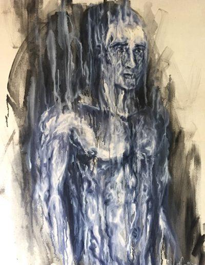 Alchimie minerale / huile sur toile / 2018 / 120 x 100 cm