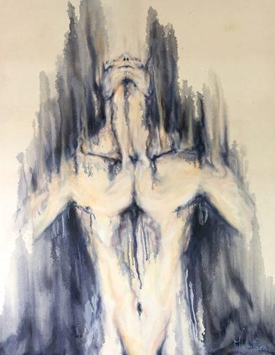 ascension / huile sur toile / 2018 / 120 x 100 cm