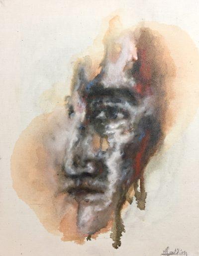 Emmergence 4 / huile sur toile / 2018 / 50 x 40 cm