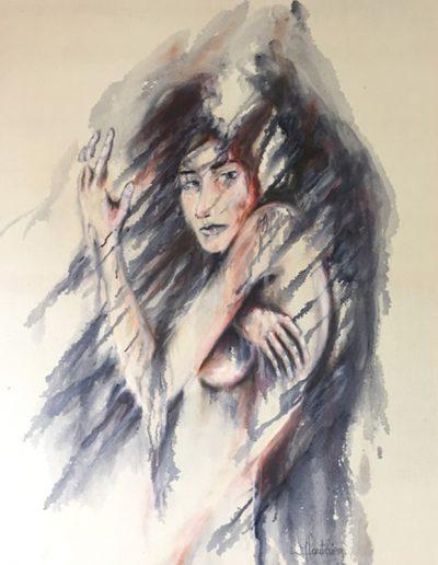 Mysticisme / huile sur toile / 2018 / 120 x 120 cm