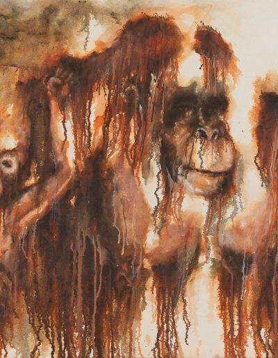 Putri & tupai - 116 x 89 cm - huile sur toile - 2019